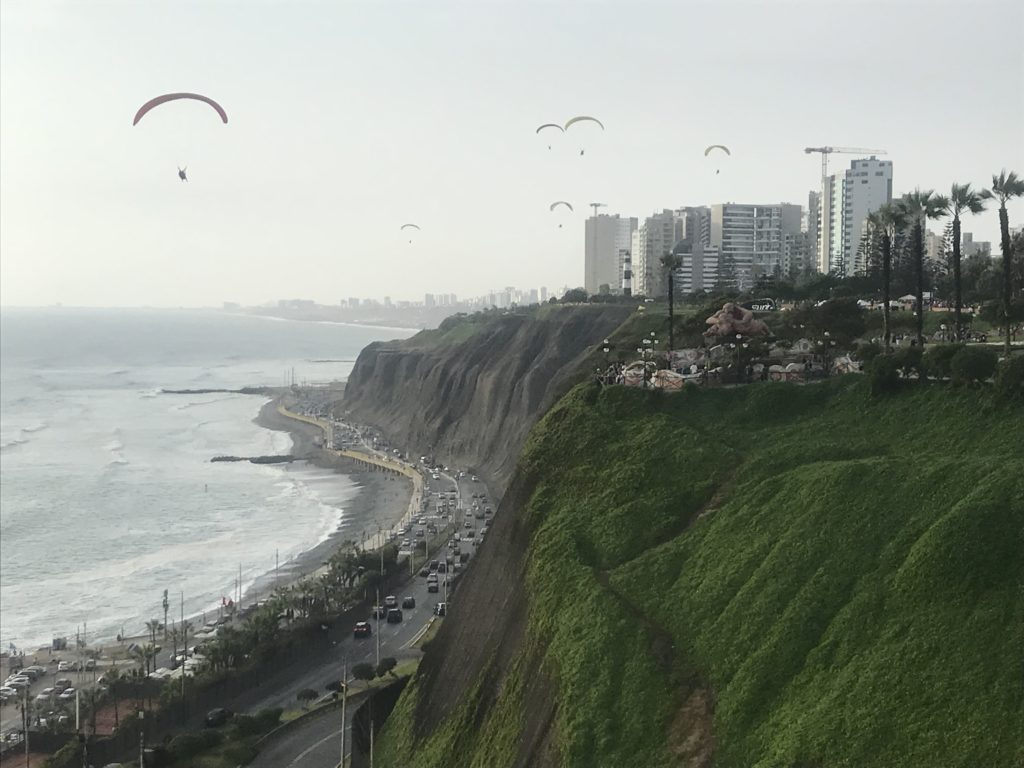 Things to do in Lima wouldn't be complete without paragliding.