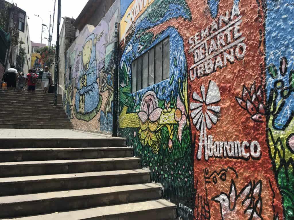 Graffiti in Barranco.