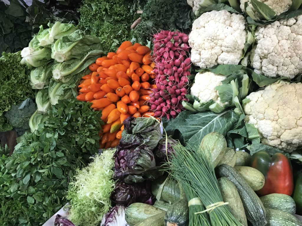 Vegetables at the Surquillo Market.
