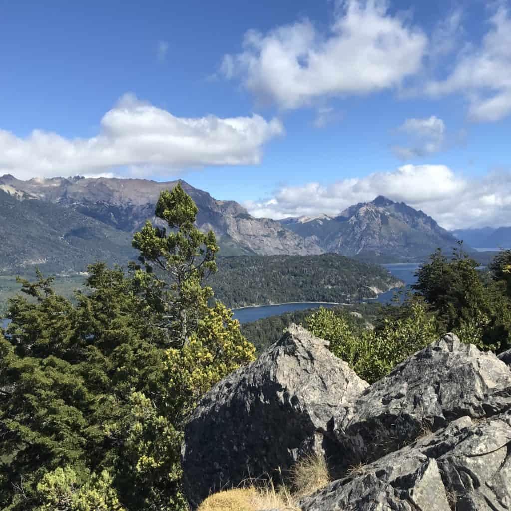 Backside views of Cerro Campanario.