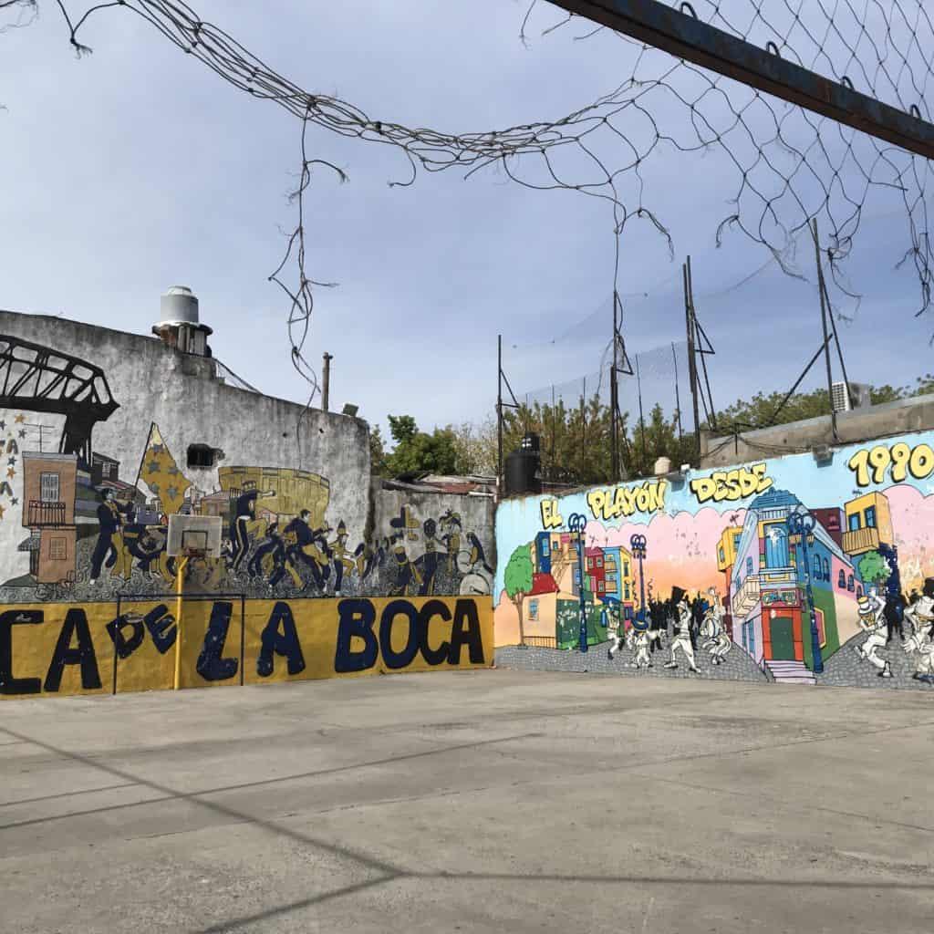 Basketball court in La Boca