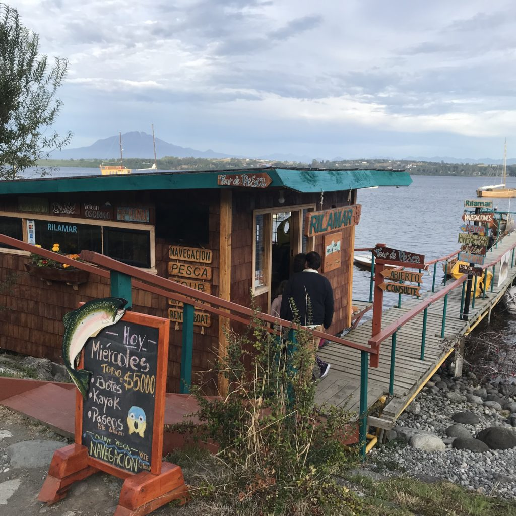 Things to do in Puerto Varas- take a boat ride on the lake.