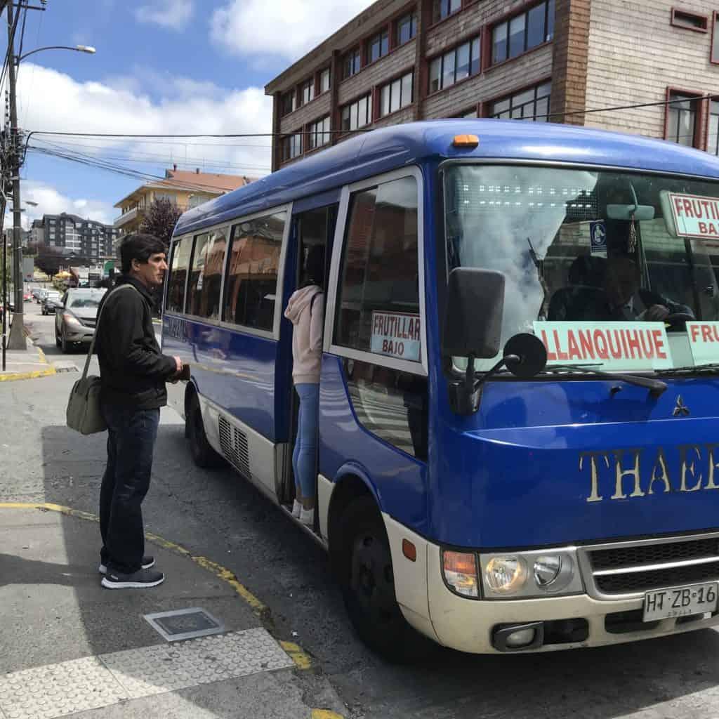 Bus to Frutillar.