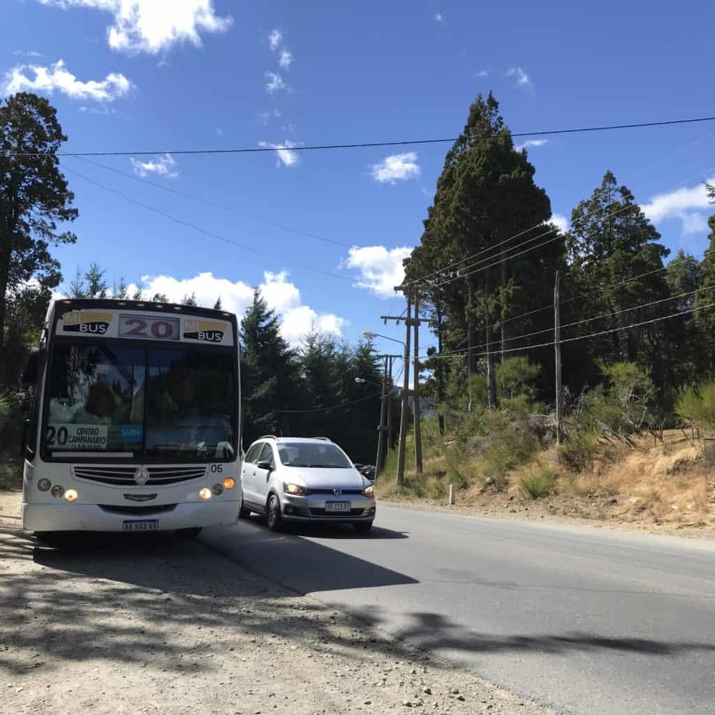 Bus stop at Cerro Campanario.