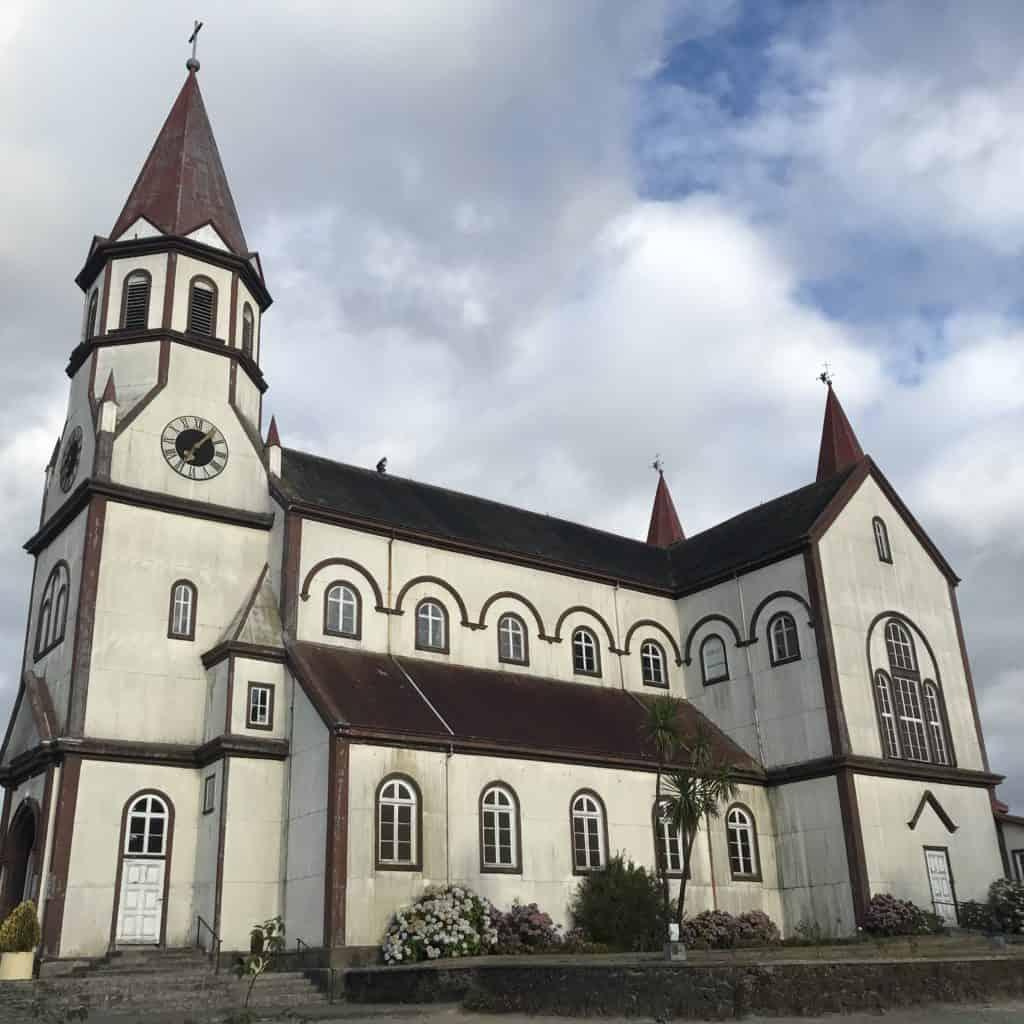 The church in Puerto Varas.