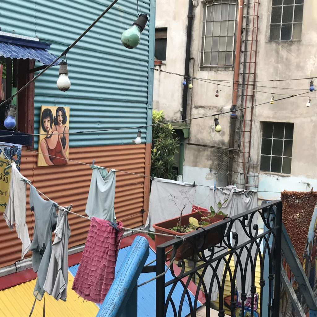 La Boca is filled with colorful imagery.