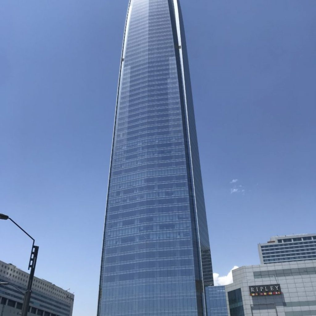 Costanera Center building allows you to go to the 63rd floor for must see views in Santiago.