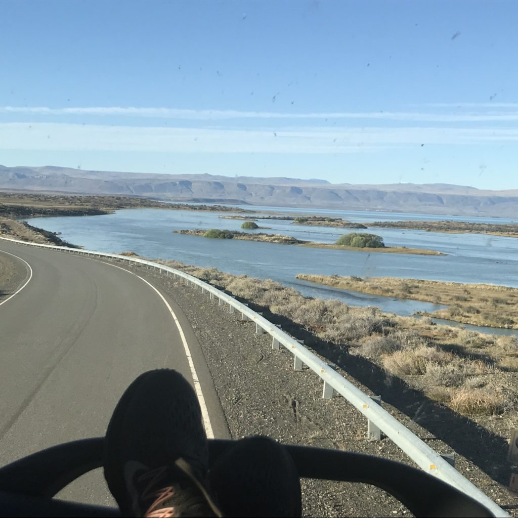 Water views on bus ride from Bariloche to El Calafate.