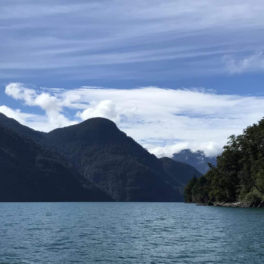 Lake view during Cruce Andino.