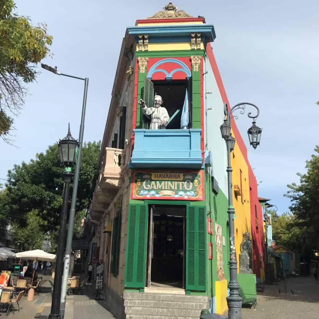 Famous entrance to Caminito Street in La Boca.