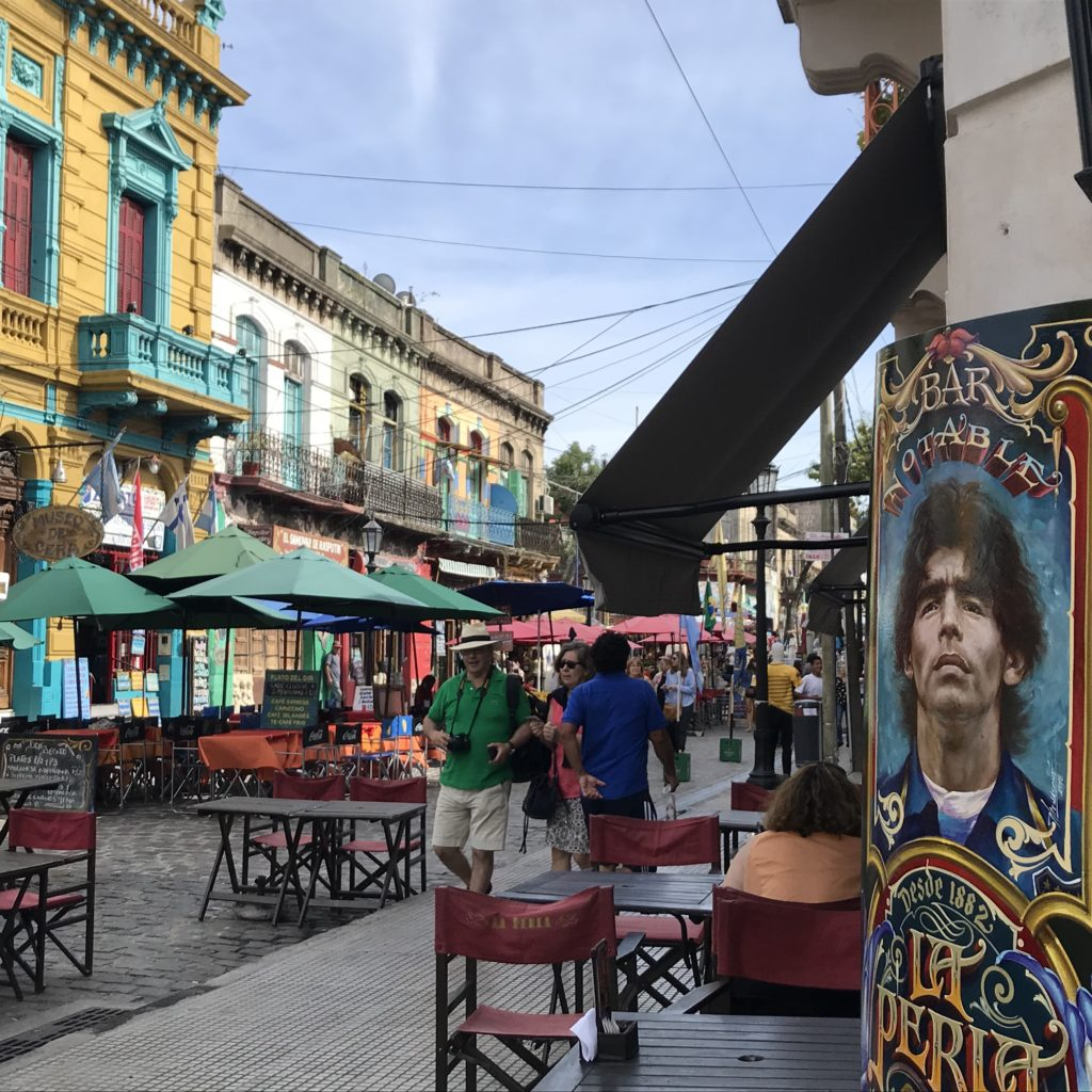 Things to do in La Boca wouldn't be complete without wandering around the colorful side streets.