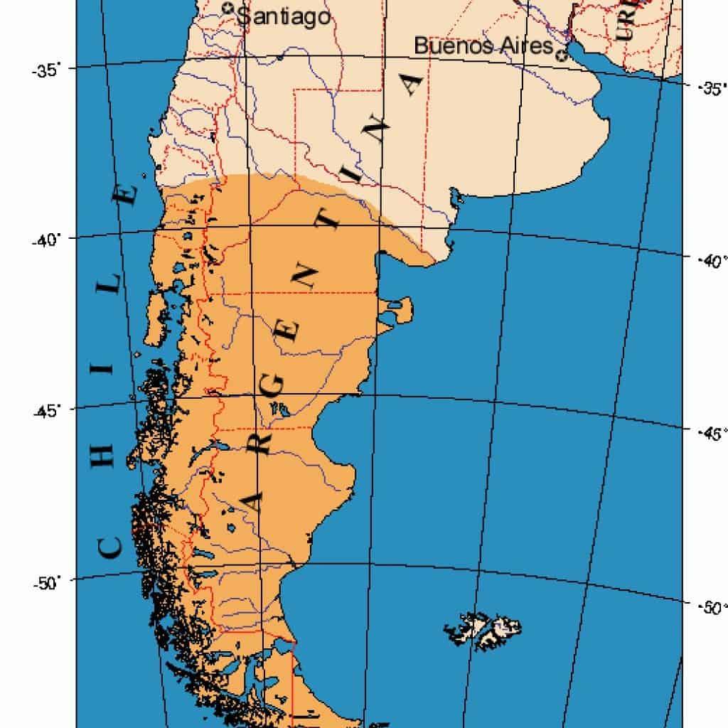 Map of Patagonia. Photo credit: Wikipedia.