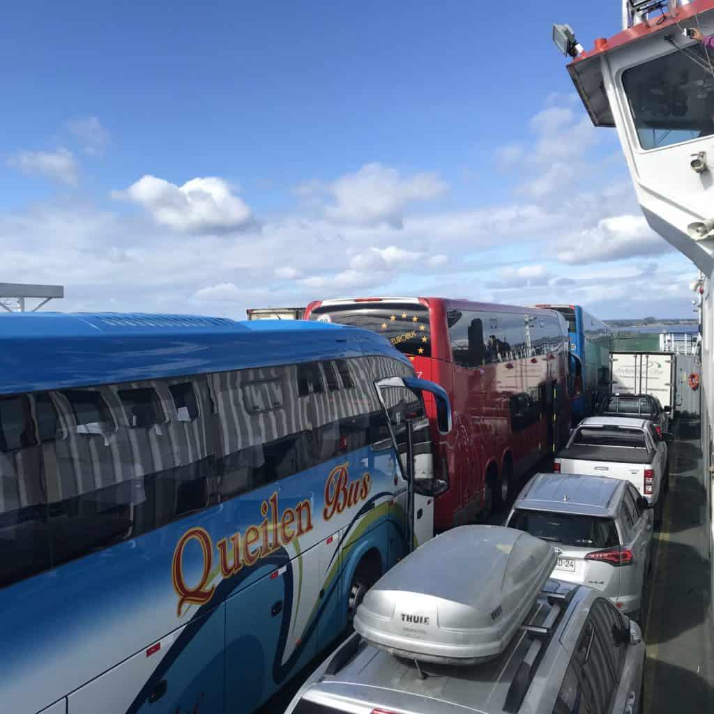 Ferry to Chiloé Island.