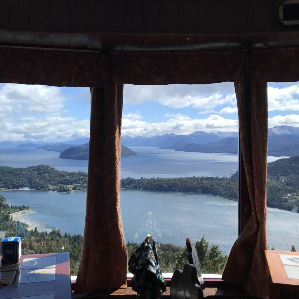 Views from Cerro Campanario restaurant.