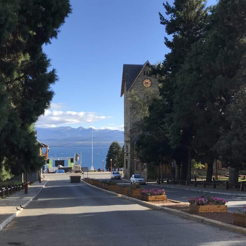 Bus stop in Bariloche.