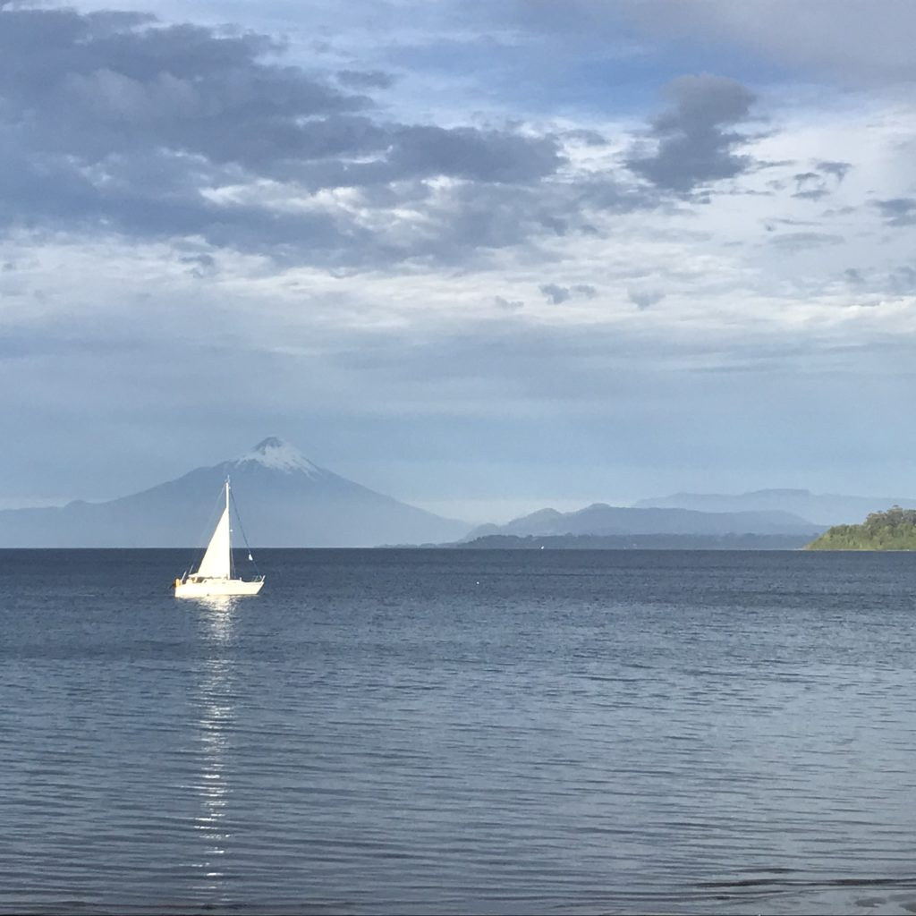 Boat on Lake Llanquihue.