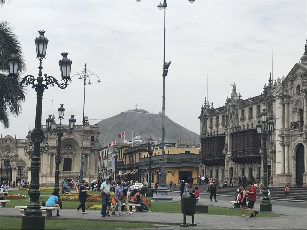 San Cristóbal hill offers viewpoints of Lima's historical district.
