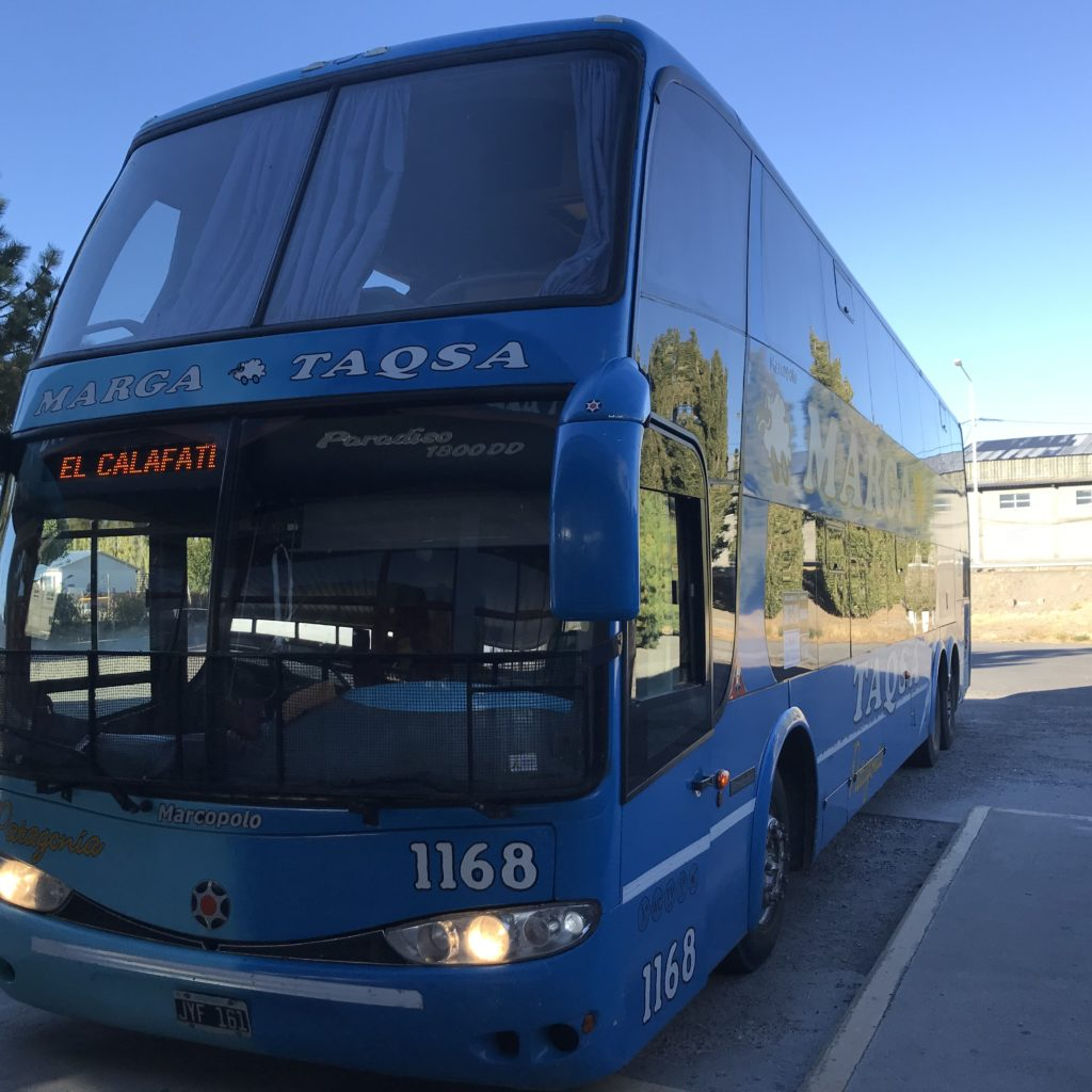 Image of bus to El Calafate.