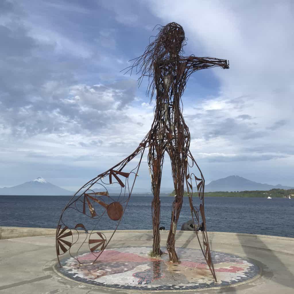 Lady statue in Puerto Varas.