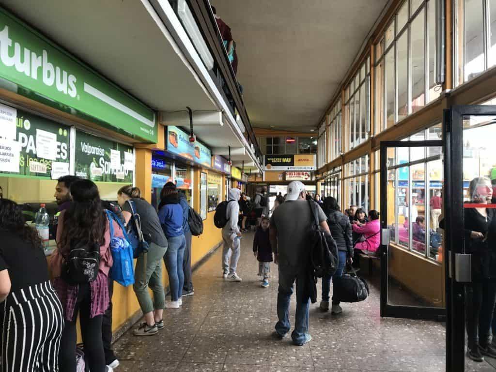 Terminal in Valparaíso.