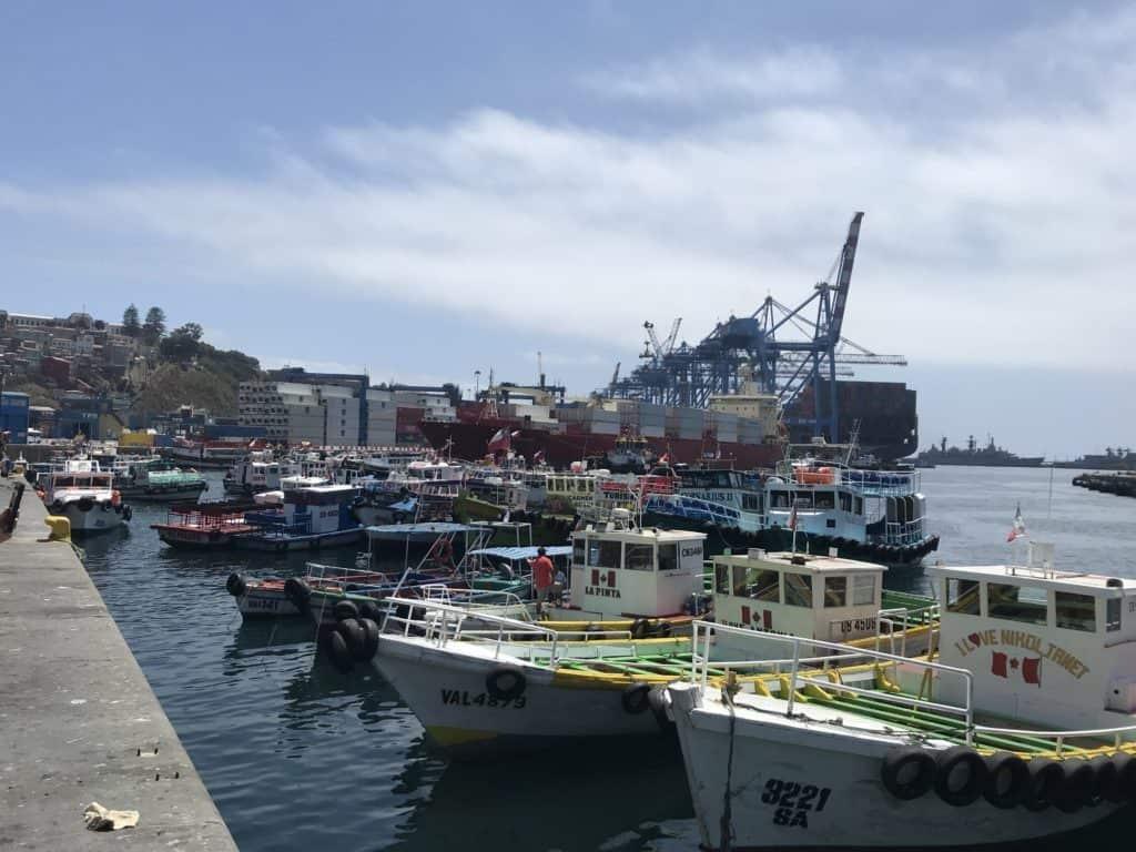 Valparaíso port.