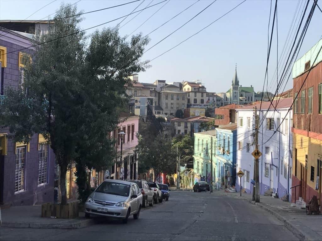 Colorful street near Cerro Cárcel.