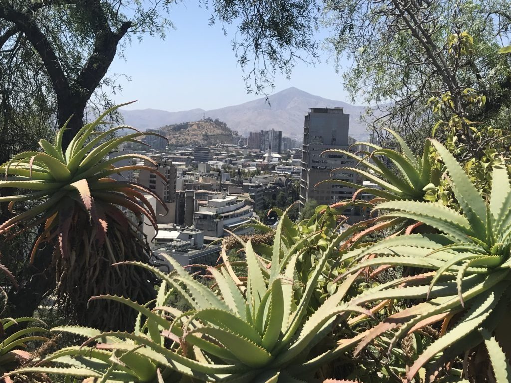 The Santa Lucía hill ranks among the must see views in Santiago.