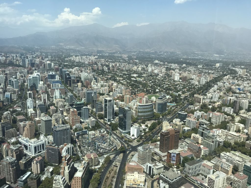 Views of Santiago from the Sky Costanera.