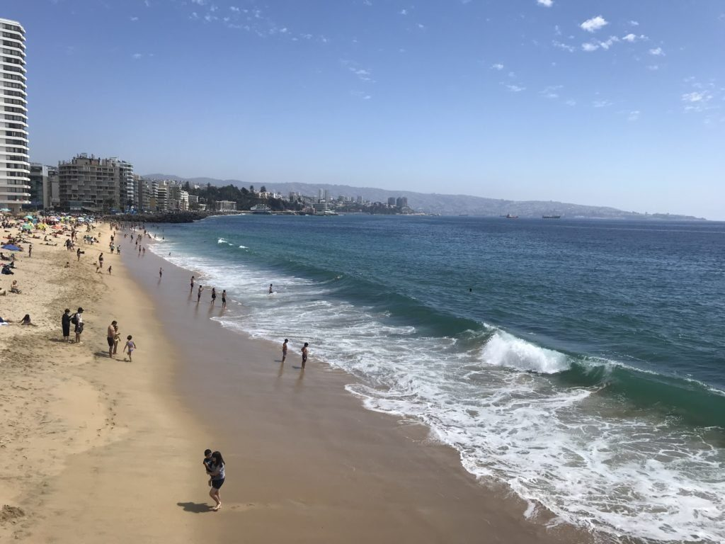 Beach in Viña del Mar.