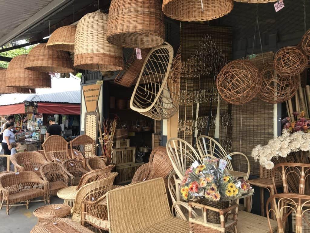 Wicker baskets at Puerto de Frutos.