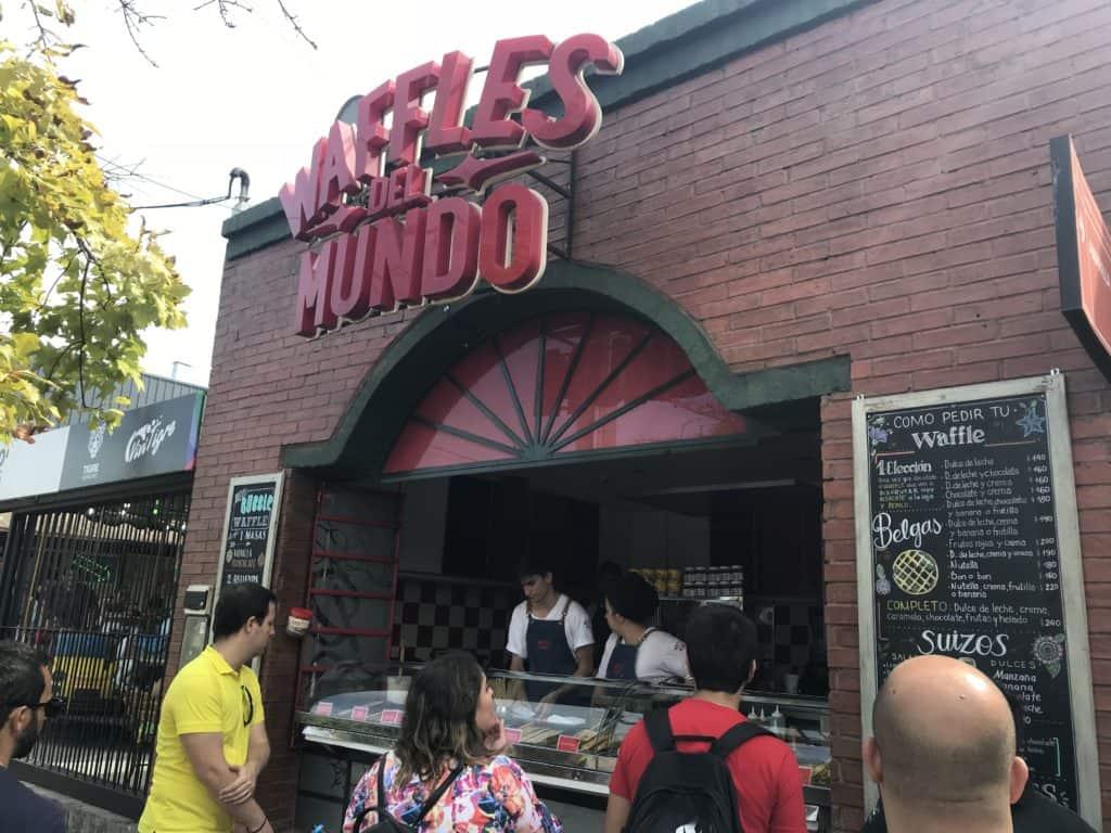 Waffles del Mundo is a popular street food restaurant in Tigre Delta.