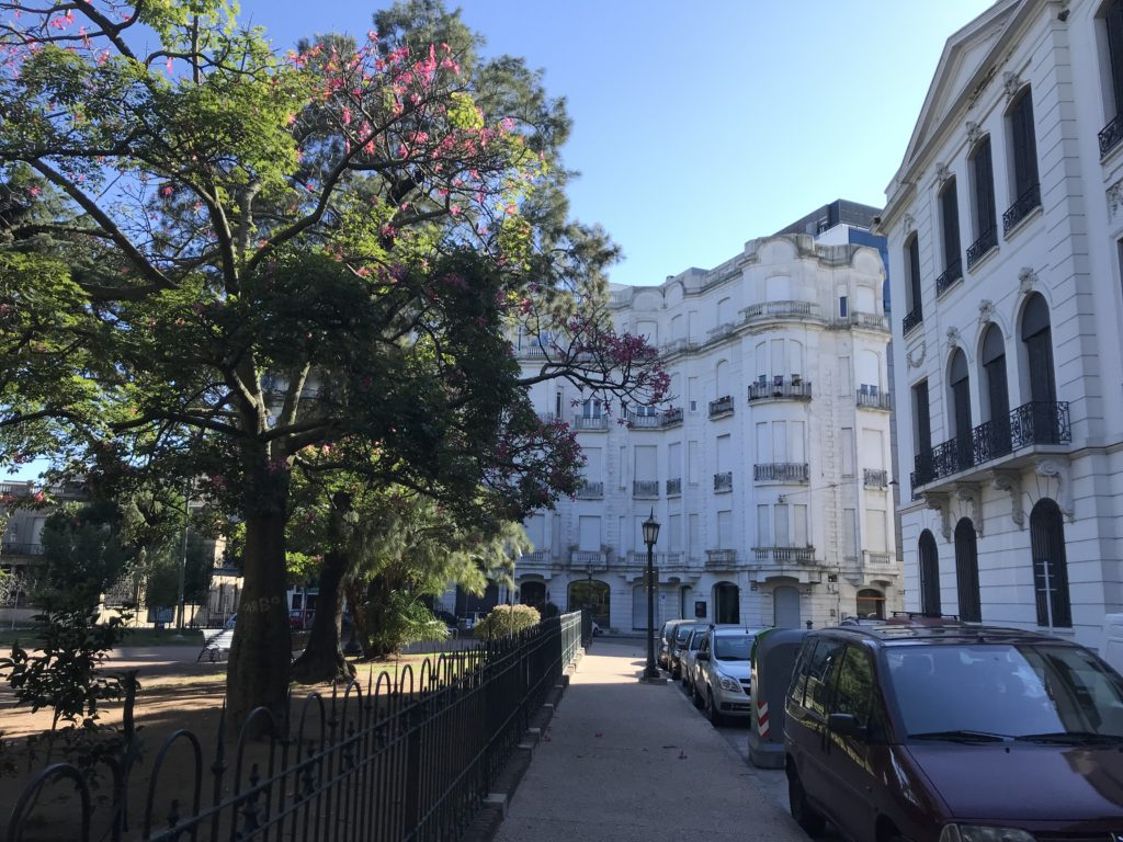 Side street in the historical center of Montevideo.