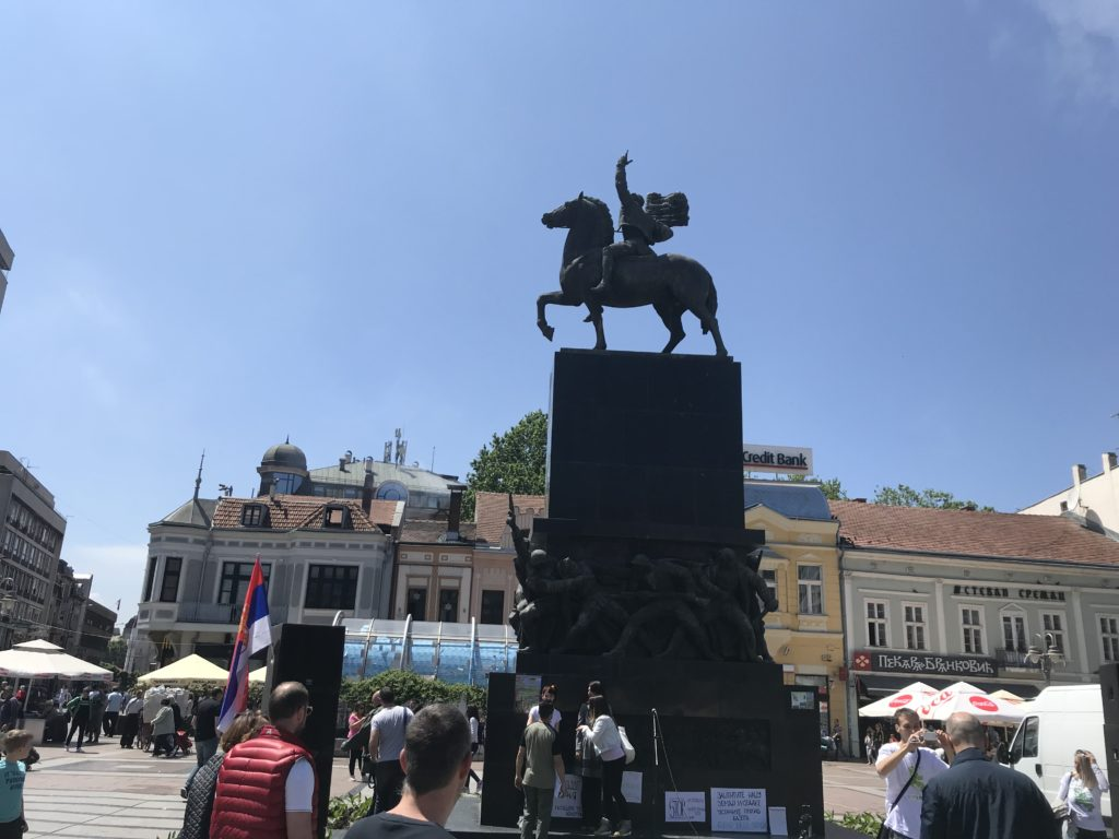 A monument in the historical center of Niš.