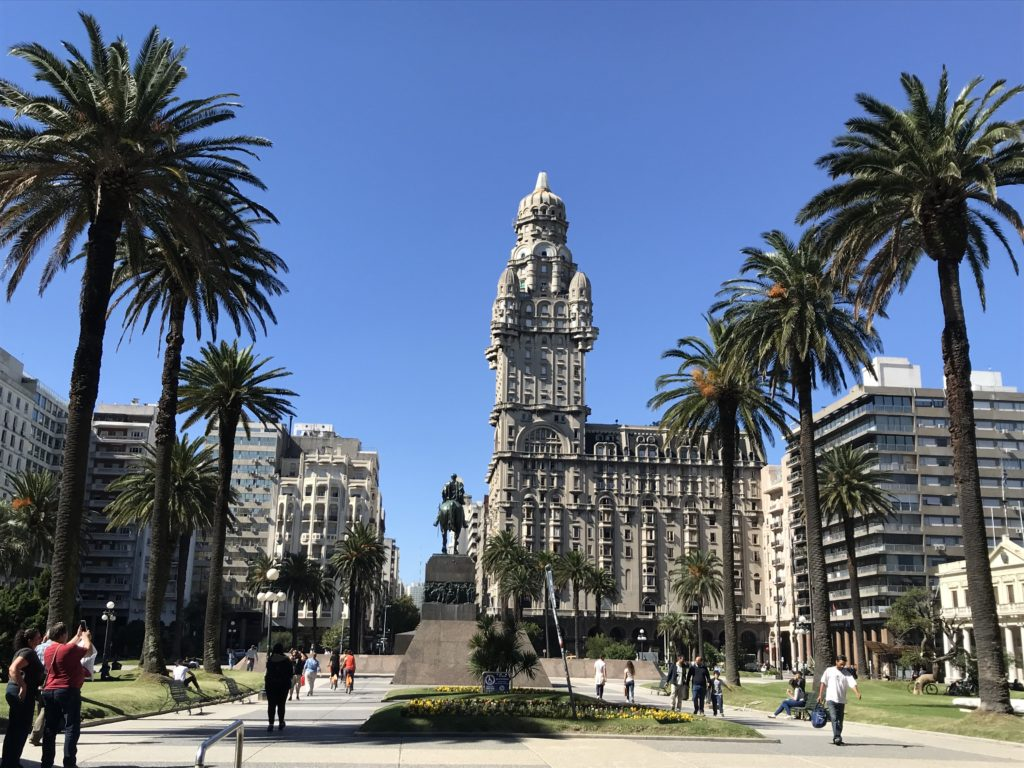 Visiting the Plaza de Independencia is one of the must see things to do in Montevideo.