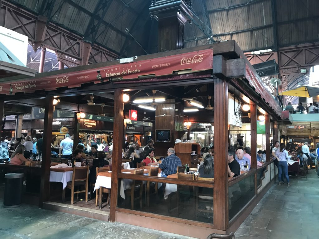 Mercado del Puerto is a popular, but expensive, place to eat in Montevideo.