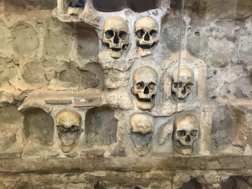 Skulls in Skull Tower, Niš.