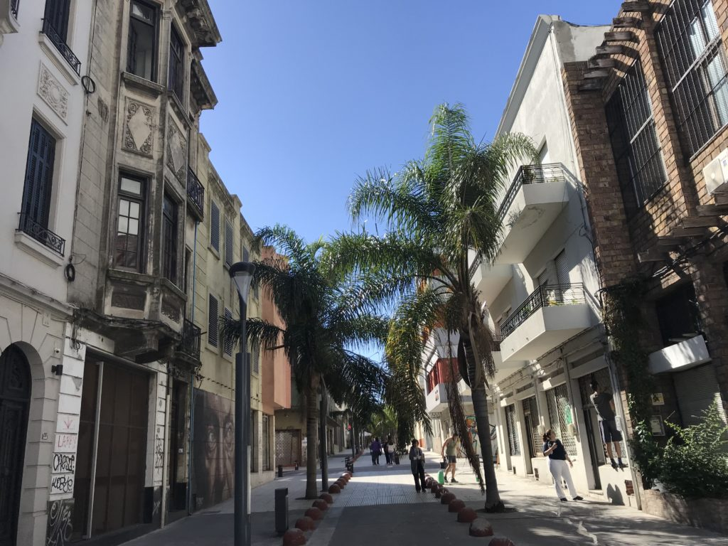 Things to do in Montevideo including walking along streets like this in the historical center.