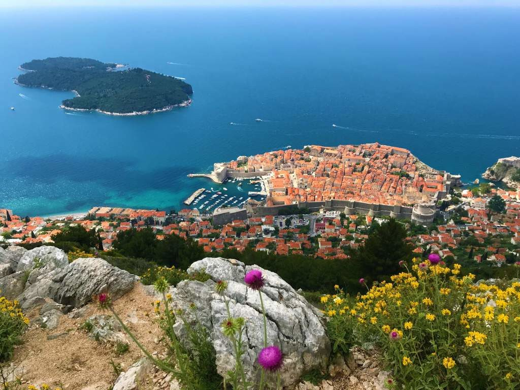 A view of Dubrovnik on the walk to Bosanka.