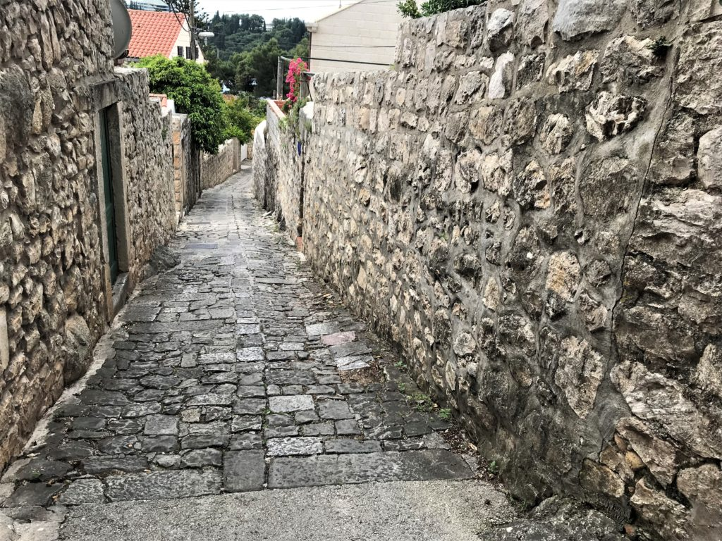 A stony, but accessible, side street in Cavtat.