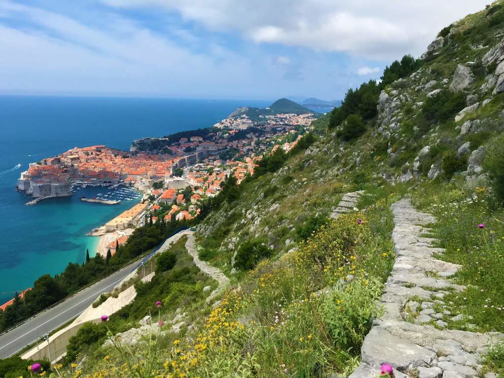 Views of Dubrovnik as I approached the end of the stone path leading from Bosanka.