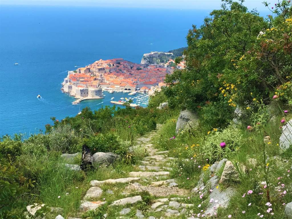 The rocky, overgrown, but beautiful path from Bosanka to Dubrovnik.