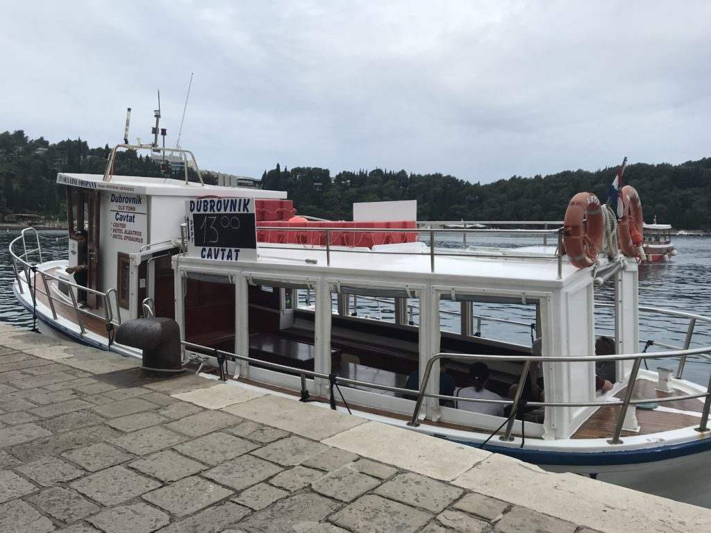 This is the ferry you'll take for your day trip to Cavtat.