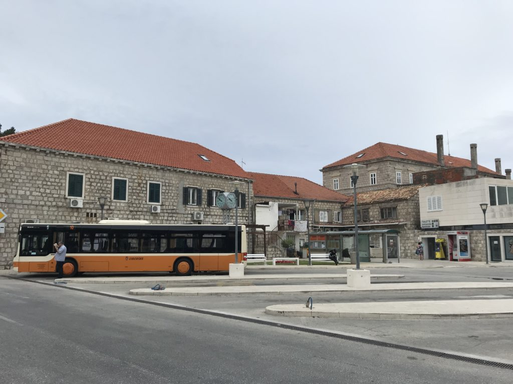 The bus station in Cavtat.