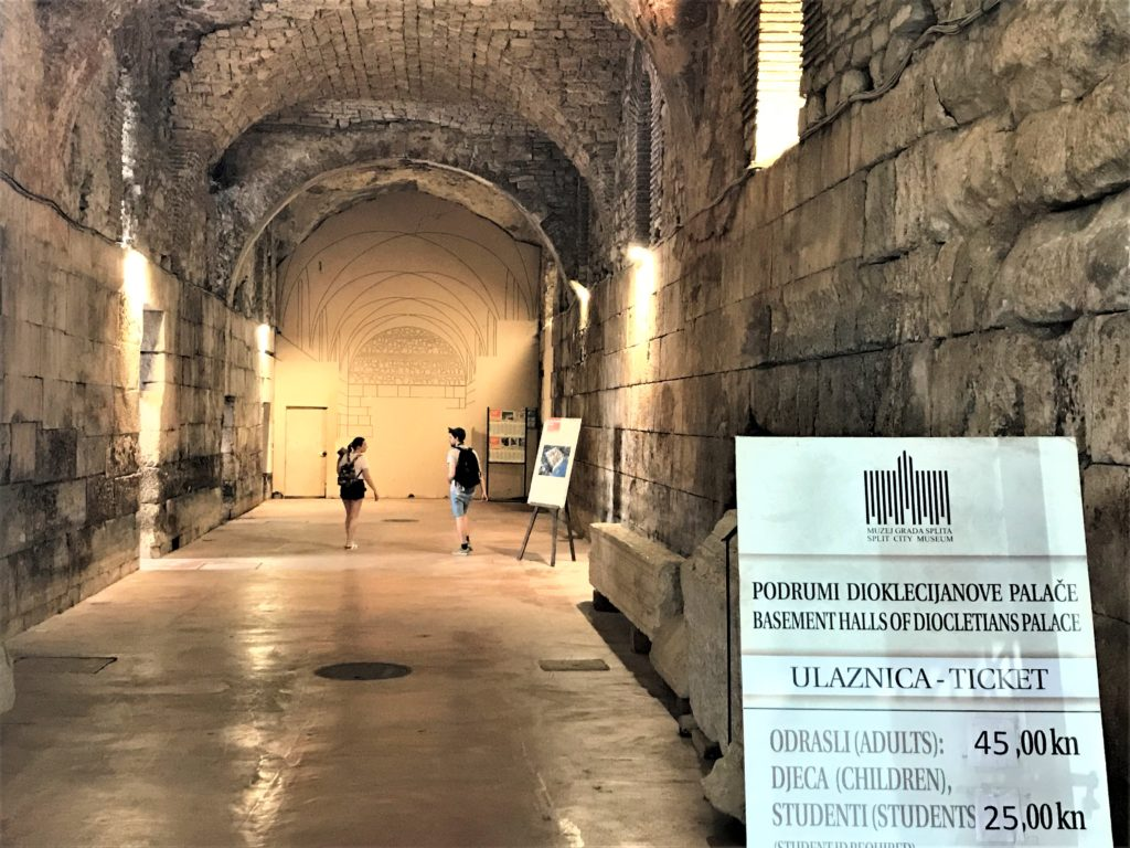 The Cellars of Diocletian's Palace are wheelchair accessible.
