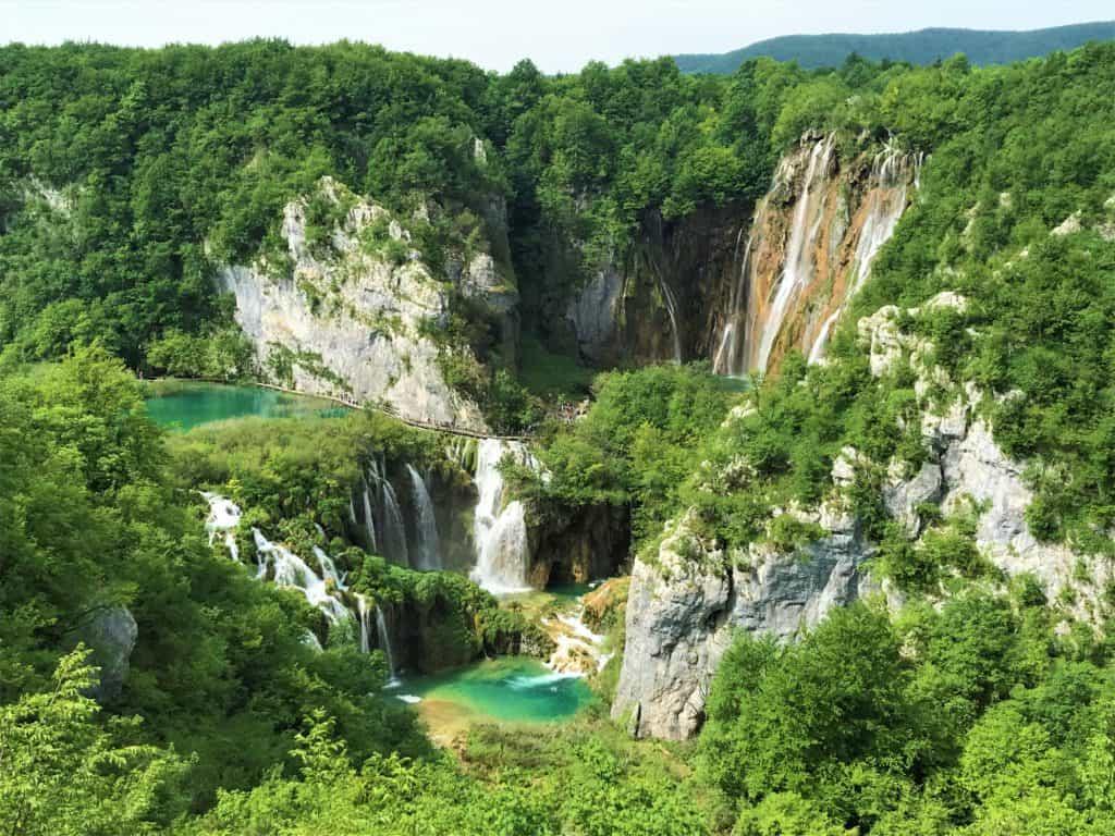 View of the Veliki Slap waterfall.