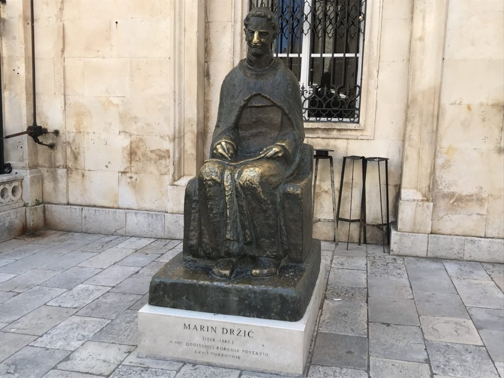 Tourists have turned this statue of Marin Držić into one of the things to do in Dubrovnik Croatia.