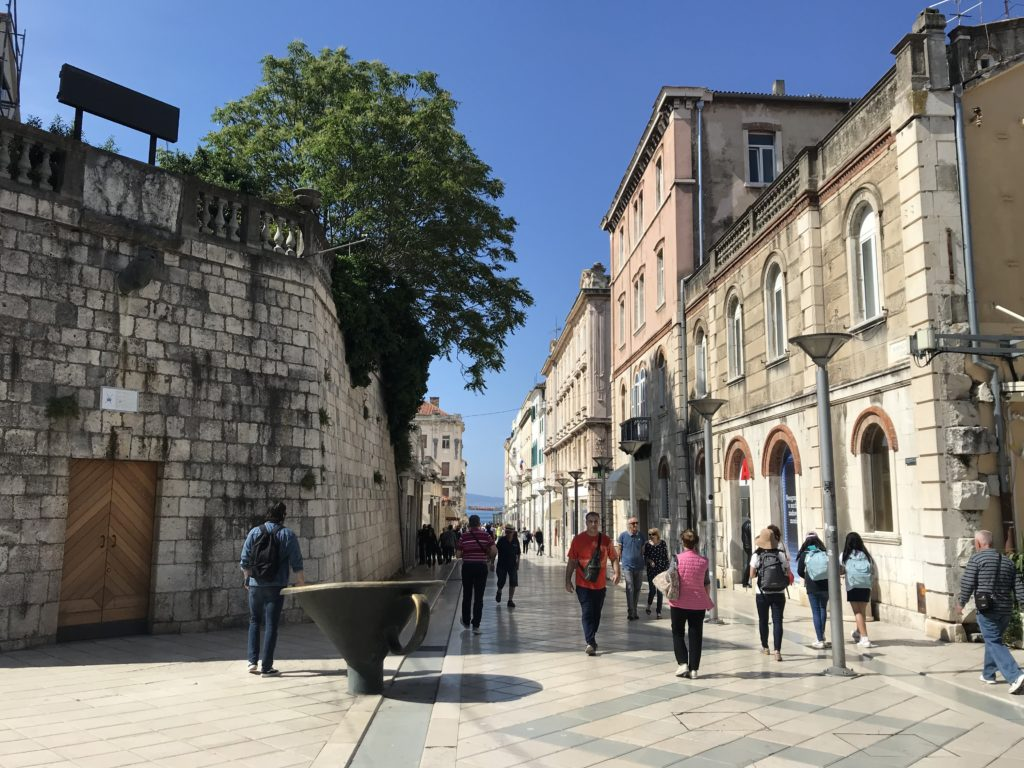 Marmontova Street in Split is a great place for wheelchair accessibility.