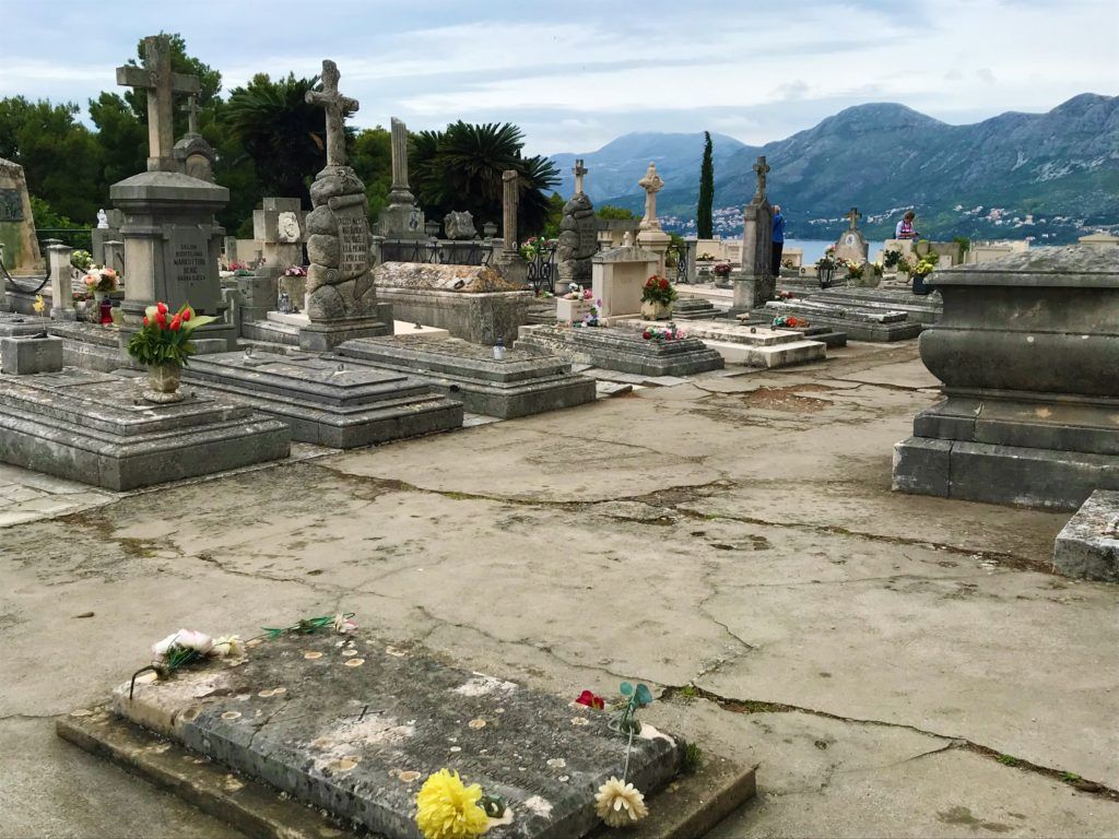 Photo of the cemetery and surrounding views at the mausoleum.  The mausoleum is an excellent thing to do with a day trip to Cavtat.