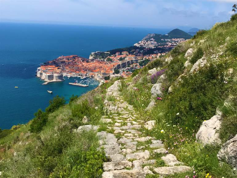 A secluded, stone path to Dubrovnik.
