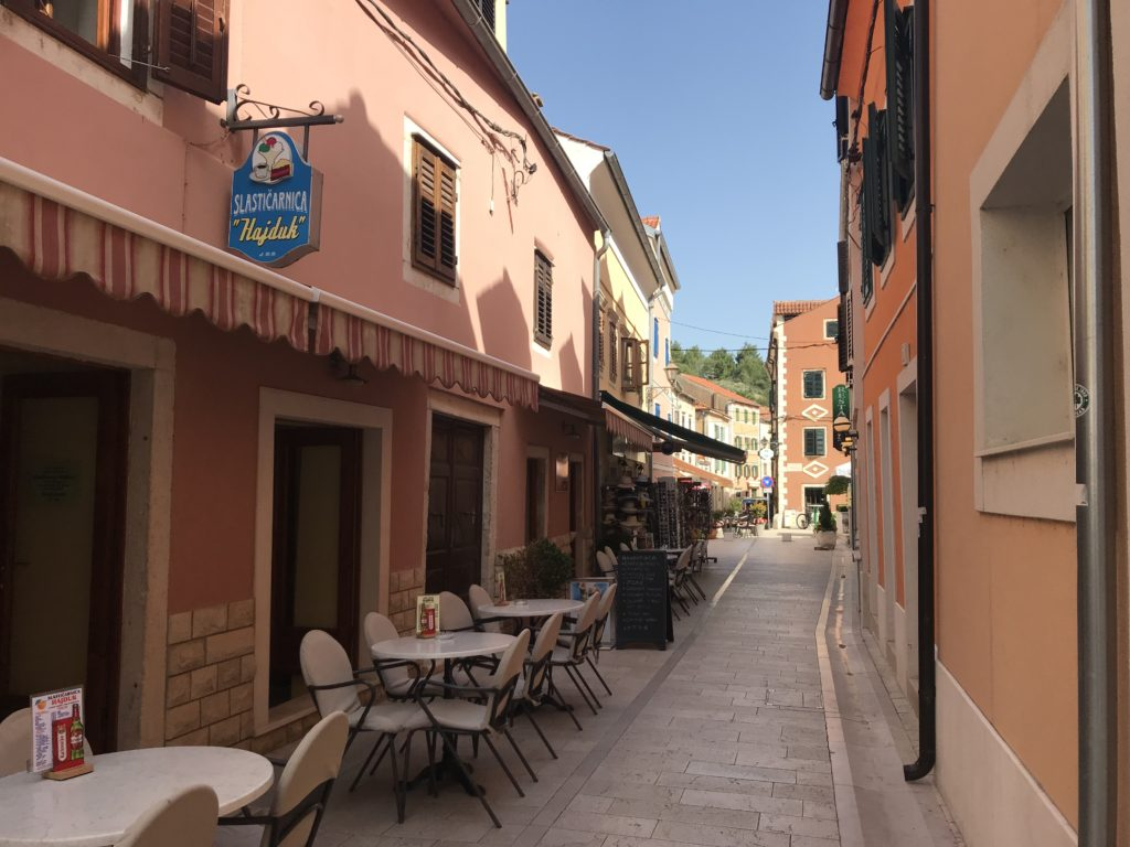 In addition to wheelchair accessibility at Krka, the streets of Skradin's old town are also accessible.